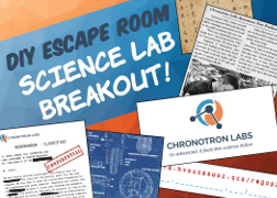 diy escape room party kit review - science breakout