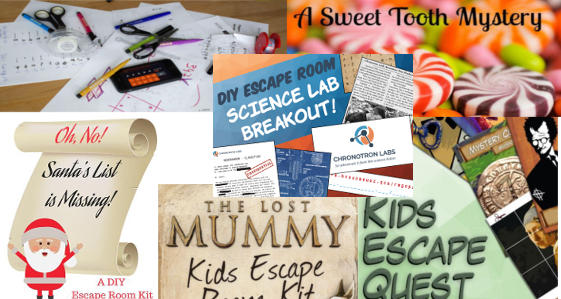 Printable Escape Games Collage